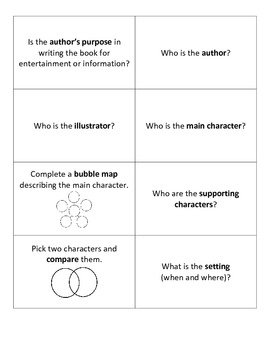 Fiction and Nonfiction Discussion Cards
