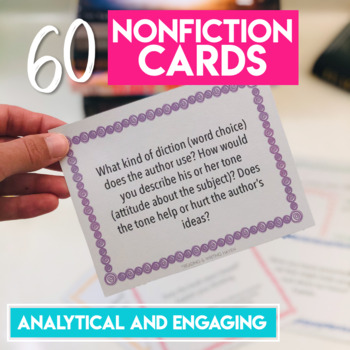 Fiction and Nonfiction Discussion Task Cards for Independent Choice Reading
