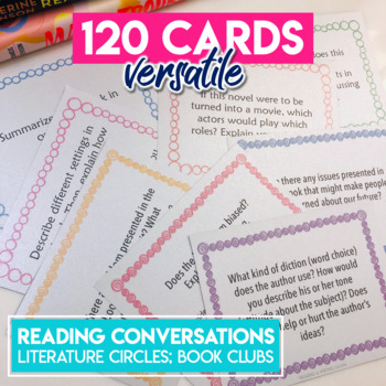 Reading Task Cards for Fiction and Nonfiction: Independent Reading Discussions
