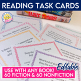 Fiction and Nonfiction Discussion Task Cards for Independe