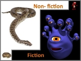 Fiction and Nonfiction Powerpoint Lesson and interactive n