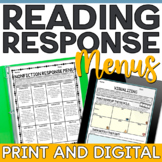 Fiction and Nonfiction Reading Response Menus | Editable