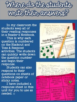 Fiction and Nonfiction Reading Response Activities (editable template included)