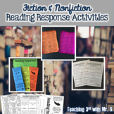 Fiction and Nonfiction Reading Response Activities (editab