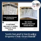 Nonfiction and Fiction Reading Response Choice Board