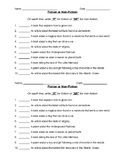 Fiction and Nonfiction Review Sheet
