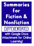 Fiction and Nonfiction Summaries (Google Doc for Distance