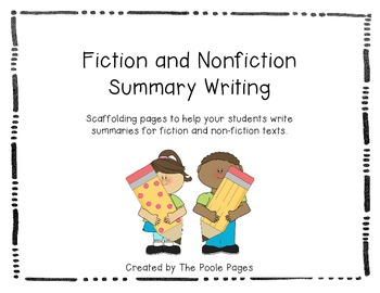 Fiction and Nonfiction Summary Writing FREEBIE
