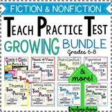 FICTION & NONFICTION UNITS -TEACH PRACTICE TEST GROWING BUNDLE-MIDDLE SCHOOL ELA