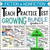 FICTION & NONFICTION READING -TEACH PRACTICE TEST BUNDLE-MIDDLE SCHOOL ELA
