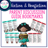 Fiction and Nonfiction Text Parent Discussion Guide Bookmarks