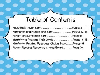 Fiction and Nonfiction Unit Resources