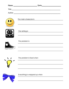 Fiction and Nonfiction organizers and bookmarks