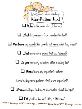 Fiction and Nonfiction reading poster