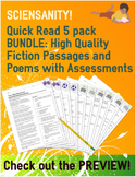 Fiction and Poetry Quick Read 5 Pack: Short story & poetry