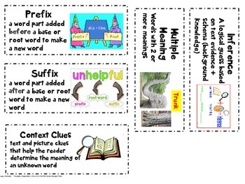Fiction and poetry vocabulary cards