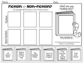 Fiction or Non-Fiction FREEBIE: Kindergarten & First Grade