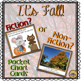 Fiction or Non-Fiction Fall Theme Pocket Chart Lesson