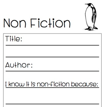 Fiction or Non Fiction Graphic Organizer