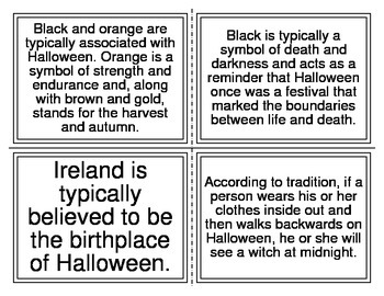Fiction or Non-Fiction Halloween Task Cards (22 Cards)