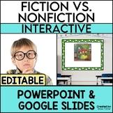 Fiction vs Non-Fiction PowerPoint Lesson and Practice