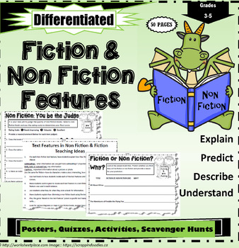 Reading Genres and Fiction or Non Fiction Printables