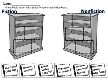 Fiction or Non Fiction Reading Sort for Literacy Station Daily 5