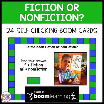 Fiction or Non-Fiction Task Cards - Boom Cards Interactive Task Cards