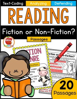 Fiction or Non-Fiction Text-Coding Reading Passages