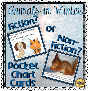 Fiction or Non-Fiction Animals in Winter Pocket Chart Lesson