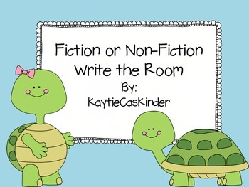 Fiction or Non-Fiction: Write the Room