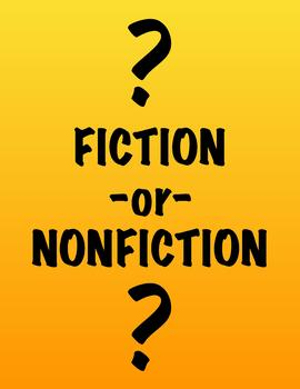 Fiction or NonFiction Worksheet