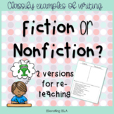 Fiction or Nonfiction Assessment