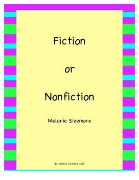 Fiction or Nonfiction Cut and Paste