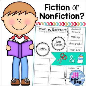 Fiction or Nonfiction? Cut and Paste Sorting Activity