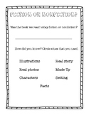 Fiction or Nonfiction Exit Ticket