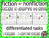Fiction or Nonfiction Passages {differentiated activities}