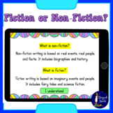 Fiction or Nonfiction? Reading Book Titles BOOM Cards