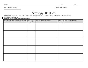 Fiction or Nonfiction Reading Strategy: Really??