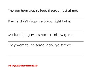 sentence of childhood