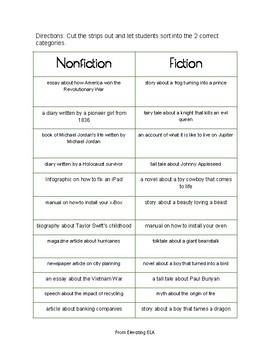 Fiction or Nonfiction Sort