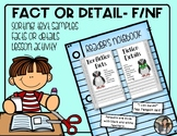Fiction or Nonfiction Sorting Details or Facts