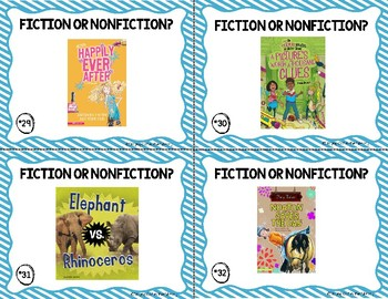 Fiction or Nonfiction Task Cards Set #1