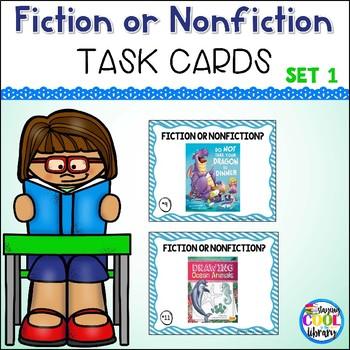 Fiction or Nonfiction Task Cards Set #1