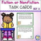 Fiction or Nonfiction Task Cards Set #2
