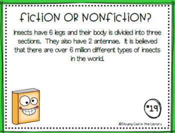 Fiction or Nonfiction Task Cards Bundle