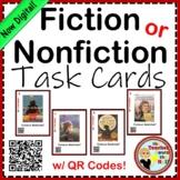 Fiction or Nonfiction Task Cards w/ QR Codes