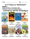 Fiction or Nonfiction Worksheet