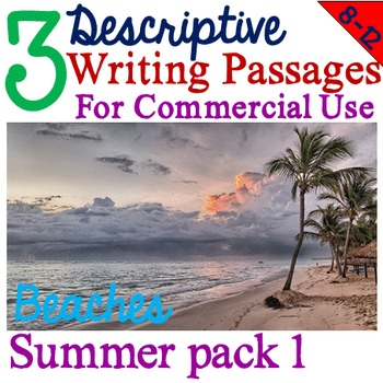 Fiction texts for commercial use - Summer Descriptive Writing pack 1