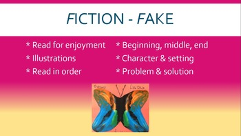 Fiction v. Nonfiction Butterfly Lesson